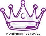 silver crown | Shutterstock .eps vector #81439723