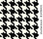 Trendy hounds tooth pattern made up of tiny square shapes that tiles seamlessly as a pattern. - stock vector