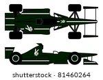 green car racing in two... | Shutterstock .eps vector #81460264