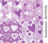 Purple Hearts Seamless Pattern...