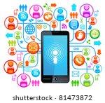 social network  communication... | Shutterstock .eps vector #81473872