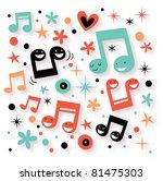 music fun background - stock vector