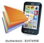 smartphone book conceptual... | Shutterstock .eps vector #81476908