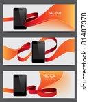 vector website headers  smart... | Shutterstock .eps vector #81487378