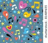 fun music seamless pattern - stock vector