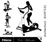 a  vector collection of fitness ... | Shutterstock .eps vector #81497131