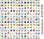 seamless web icons pattern....