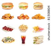 fast food set | Shutterstock . vector #81508804