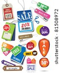 various price tags   labels | Shutterstock .eps vector #81508972