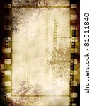 vintage background with film... | Shutterstock . vector #81511840