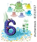 Sea Animals And Numbers Series...