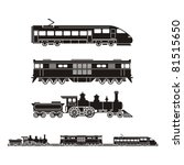 set of trains from different...