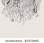 Styled psychedelic abstract background. Vector illustration. - stock vector