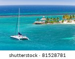 Catamaran Sails On Caribbean...