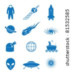 vector illustration of icons on ... | Shutterstock .eps vector #81532585