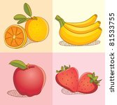 fruit collections | Shutterstock .eps vector #81533755
