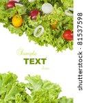 Fresh Green Salad And Tomatoes...