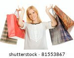 girl with shopping bags | Shutterstock . vector #81553867