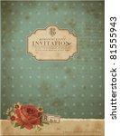 scrapbook style retro... | Shutterstock .eps vector #81555943
