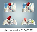 city map with gps icons and... | Shutterstock .eps vector #81563977