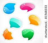 colorful speech bubbles | Shutterstock .eps vector #81568333