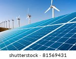 wind generator and solar panel | Shutterstock . vector #81569431