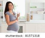 good looking pregnant woman... | Shutterstock . vector #81571318