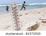 A Temperature Scale On A Beach...