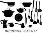illustration with collection of ... | Shutterstock .eps vector #81574747