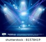Magic Spotlights With Blue Ray...