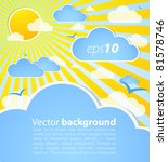 good weather background. blue... | Shutterstock .eps vector #81578746