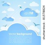 good weather background. blue... | Shutterstock .eps vector #81578824