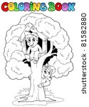 coloring book with kids and... | Shutterstock .eps vector #81582880