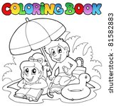 coloring book with summer theme ... | Shutterstock .eps vector #81582883