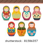 Russian Doll In Retro Style....