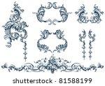 decorative vector elements ... | Shutterstock .eps vector #81588199