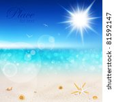 beautiful seaside view on sunny ... | Shutterstock .eps vector #81592147