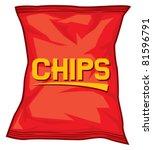 potato chips bag   Shutterstock .eps vector #81596791