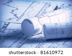 part of architectural project | Shutterstock . vector #81610972