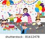 birthday party celebration | Shutterstock .eps vector #81612478