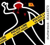 crime scene | Shutterstock . vector #81613573
