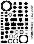 silhouette vector set of 50... | Shutterstock .eps vector #81617059