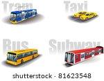 set of the city public... | Shutterstock .eps vector #81623548