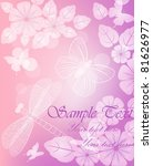 pink floral background with... | Shutterstock .eps vector #81626977