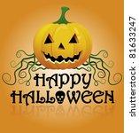 happy halloween pumpkin on... | Shutterstock .eps vector #81633247