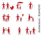 family vector set | Shutterstock .eps vector #81644245