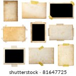 collection of various  old... | Shutterstock . vector #81647725
