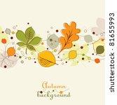 autumn background   Shutterstock .eps vector #81655993