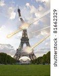 meteorite shower over paris ... | Shutterstock . vector #81662329