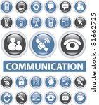 communication glossy buttons ... | Shutterstock .eps vector #81662725